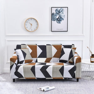 All-wraped Sofa Cover Slipcover Printed Elastic Stretch Couch Cover