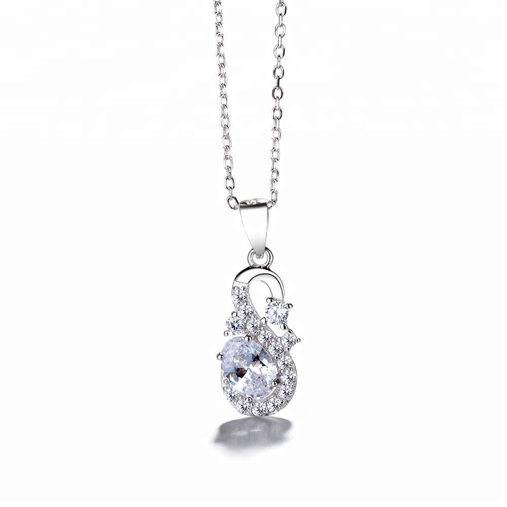 925 Sterling Silver Cubic Zirconia Necklace Pendant - The Silver Brand