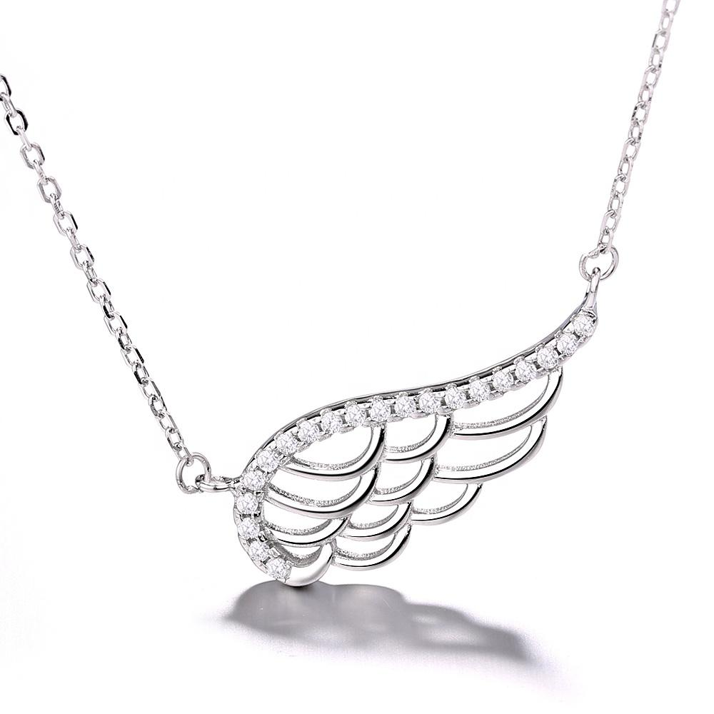 925 Sterling Silver Angel Wing Necklace - The Silver Brand