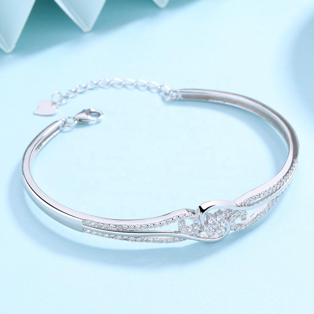 925 Sterling Silver Fashion CZ Bangle - The Silver Brand