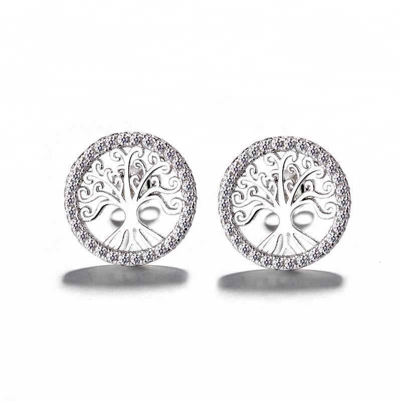 925 Sterling Silver Filigree Tree Earrings - The Silver Brand