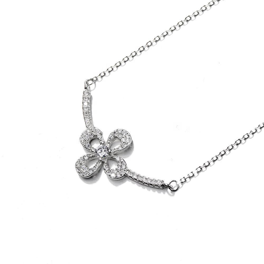 925 Sterling Flower Necklace - The Silver Brand