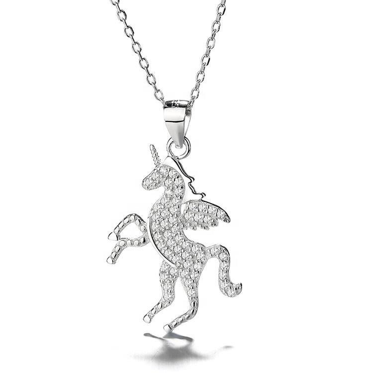 925 Sterling Silver Lucky Unicorn Pendant Necklace - The Silver Brand