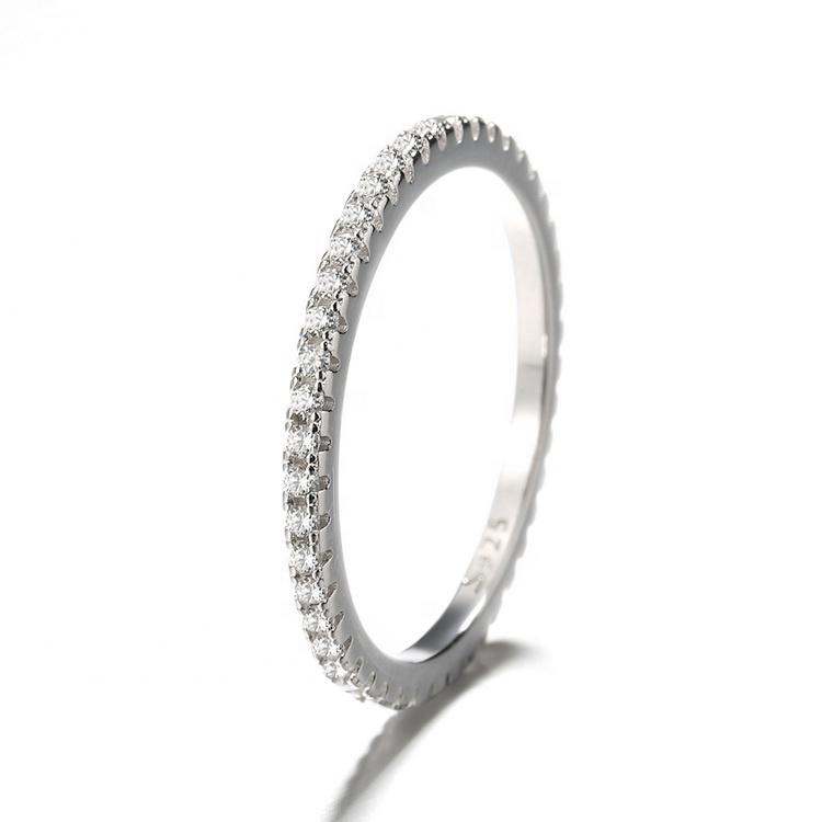 925 Sterling Silver Eternity CZ Ring - The Silver Brand