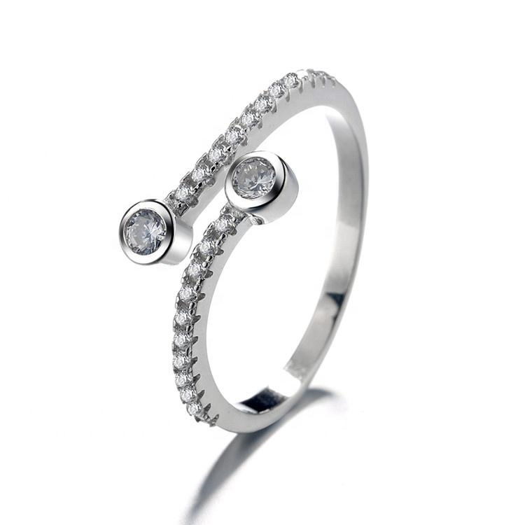 925 Sterling Silver CZ Eternity Ring - The Silver Brand