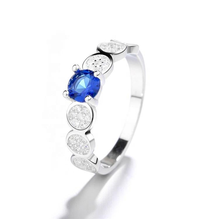 925 Sterling Silver Classic Sapphire Ring - The Silver Brand