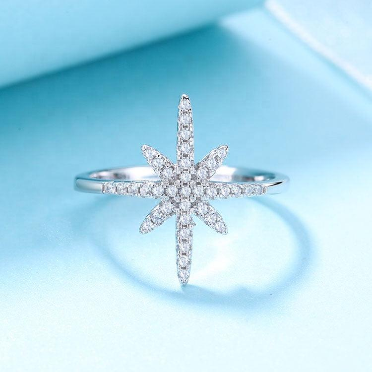 925 Sterling Silver Sparkling Star Ring - The Silver Brand