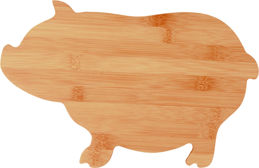 Pig Shaped Bamboo Cutting Board