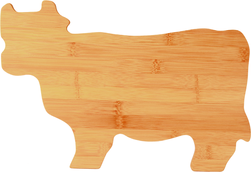 Cow Shaped Bamboo Cutting Board