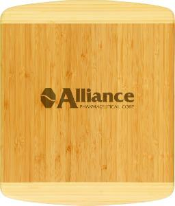 Two Tone 13.5 by 11.5 Bamboo Cutting Board