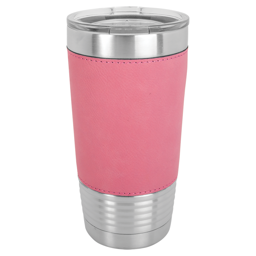 20oz Vacuum Insulated Tumbler with Leatherette Wrap