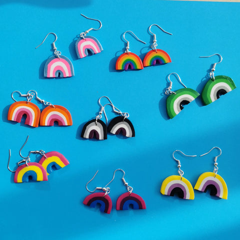 Pride Flags Rainbows - Earrings