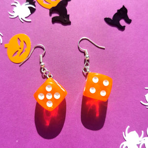 Neon Dice Earrings