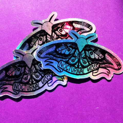 Nocturnal Vibes Moth sticker