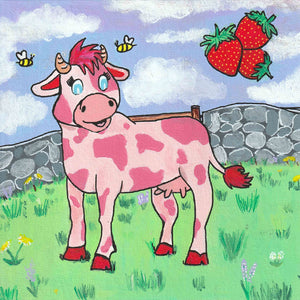 Strawberry Cow Print