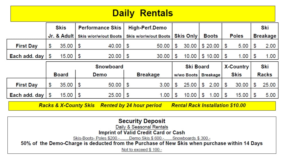 DAILY Rentals