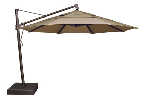 Treasure Garden 13ft. Octagon Bronze Pole Cantilever Umbrella