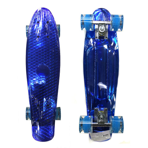 "22"" Skateboard, Metallic Blue"
