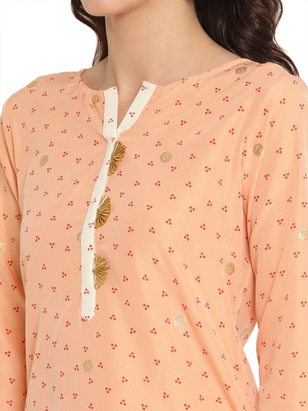 High Low Hem Printed Kurta
