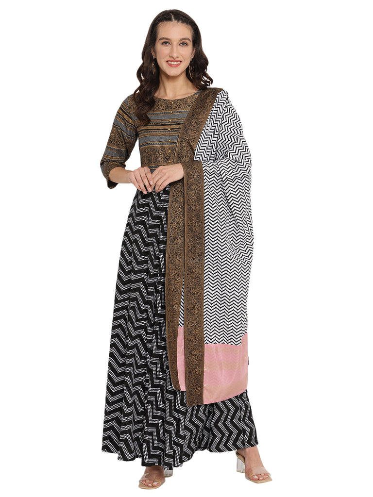 Printed Kurta with Dupatta