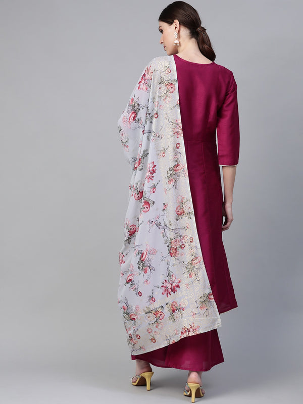 Solid Anarkali Kurta Set