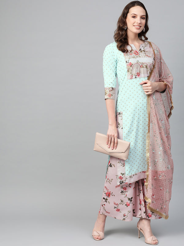 Women Printed Straight Kurta Set