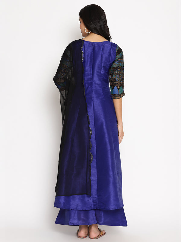 Blue Anarkali Kurta set