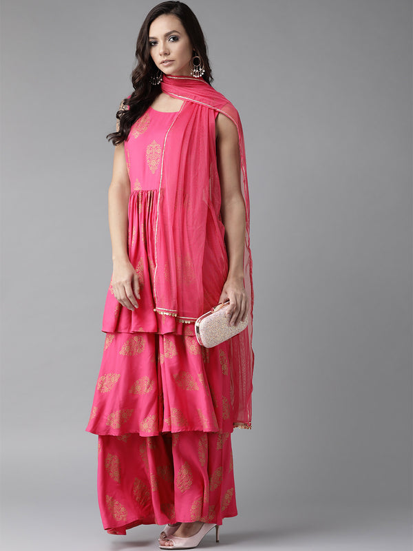 Women's Pink Kurta Set