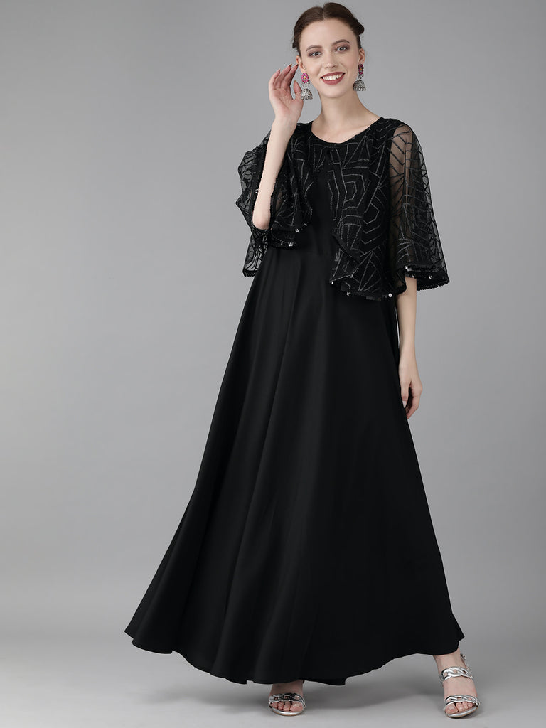 Women Cap Style Long Dress from Ahalyaa