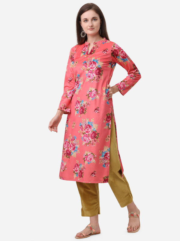 Ahalyaa Red Velvet Kurta with Pant