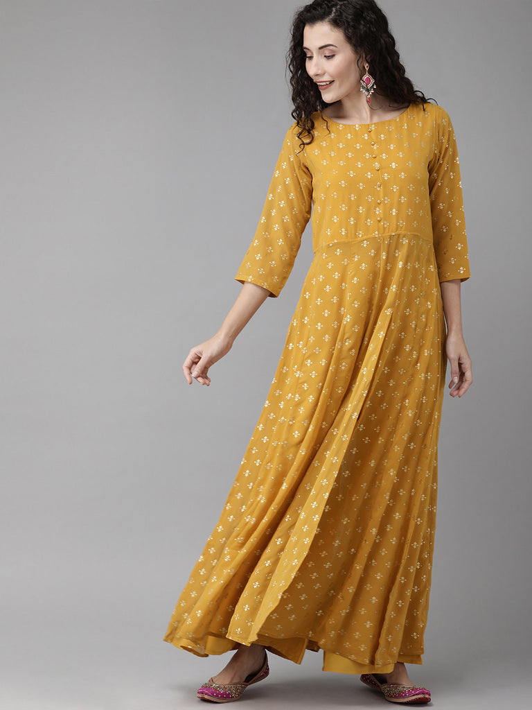 Mustard Kurta with Palazzo Set from Ahalyaa