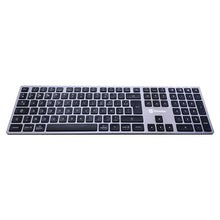 Load image into Gallery viewer, Multi Device Aluminum Keyboard