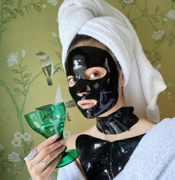 Celestial black diamond lifting and firming neck mask