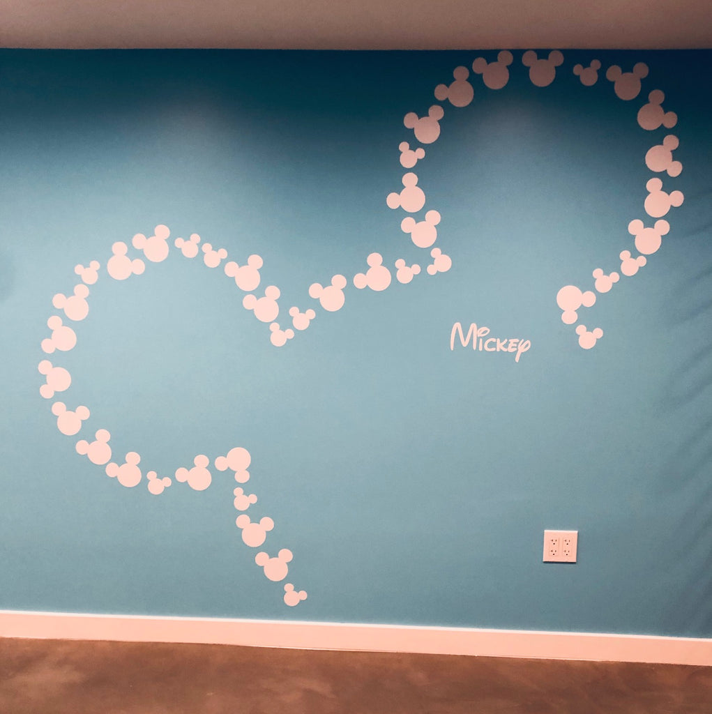 Installation Tutorial: Mickey Mouse inspired ears wall decals