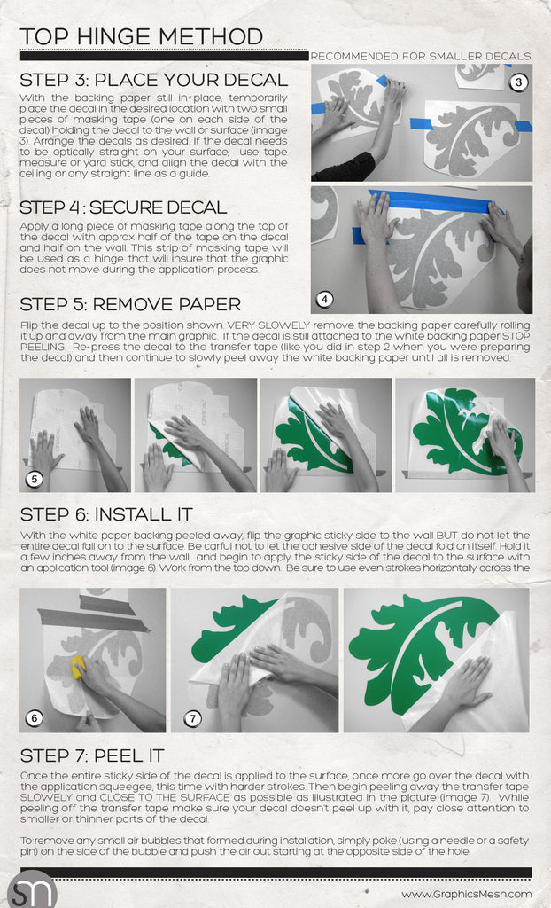 Wall Decals Installation Instructions How To Install Surface - How to put a wall decal up