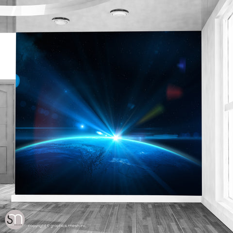 EARTH FROM SPACE - Wall Mural living room