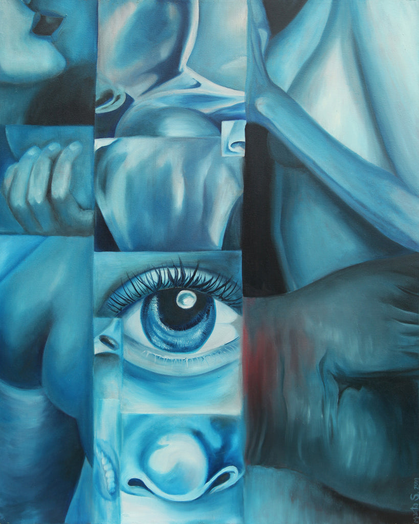 Blue Body - Original Fine Art Painting - Oil on Canvas
