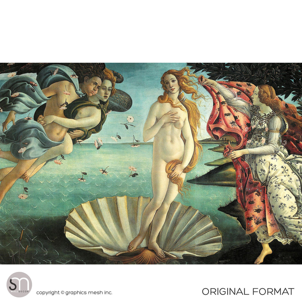 BIRTH OF VENUS by Botticelli - Wall Mural original