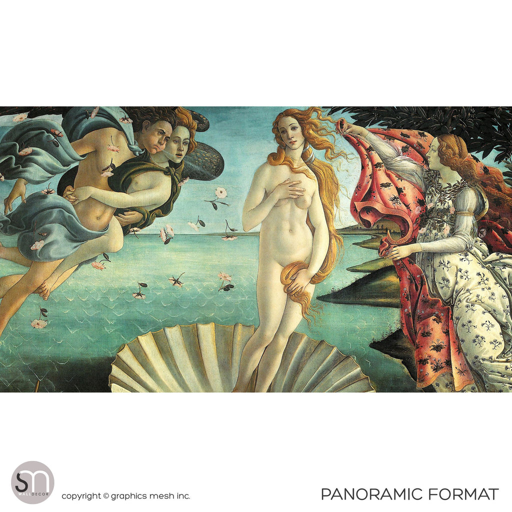 BIRTH OF VENUS by Botticelli - Wall Mural panoramic