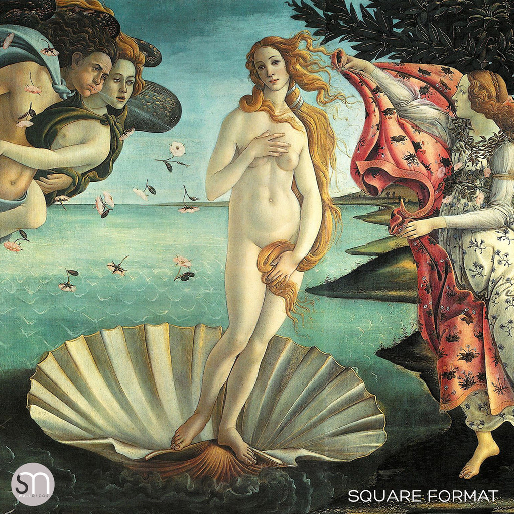 BIRTH OF VENUS by Botticelli - Wall Mural square