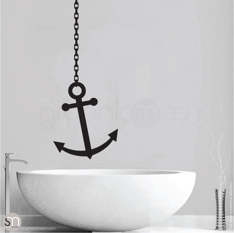 ANCHOR ON CHAIN - Wall decal black
