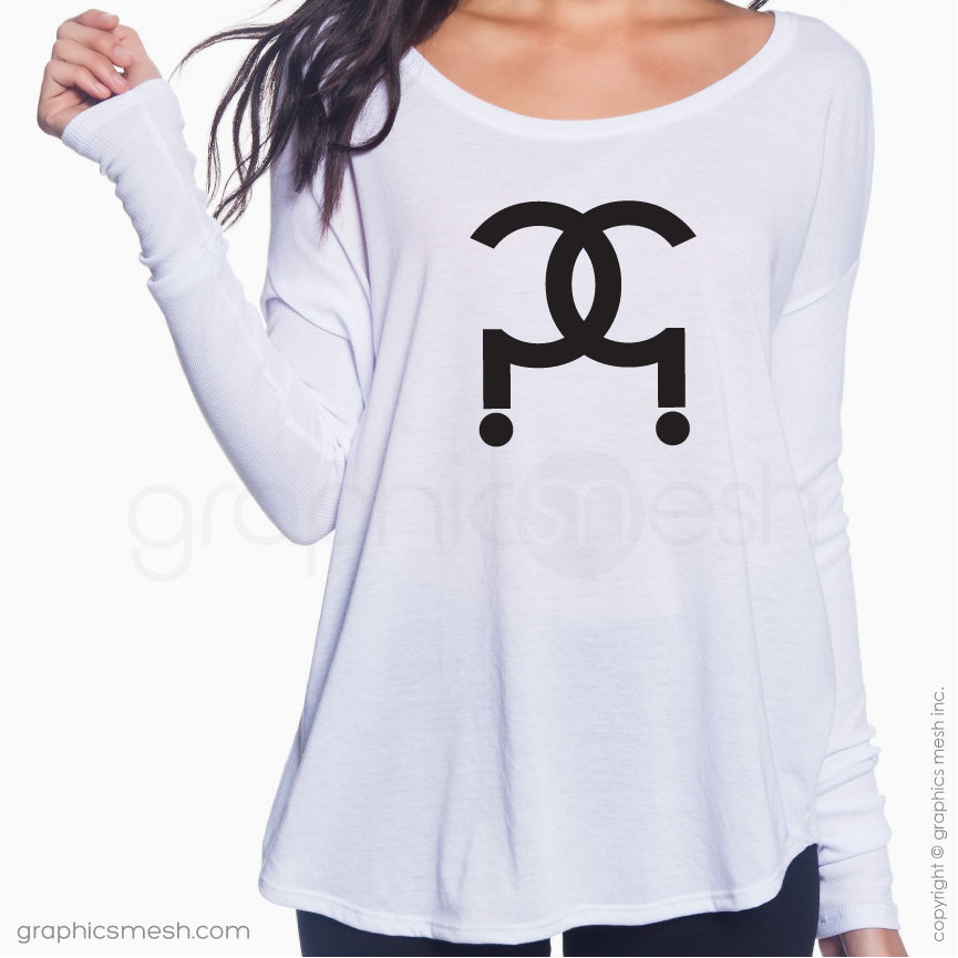 CC QUESTION MARK LOGO ?? - Flowy Long-Sleeve shirt for her