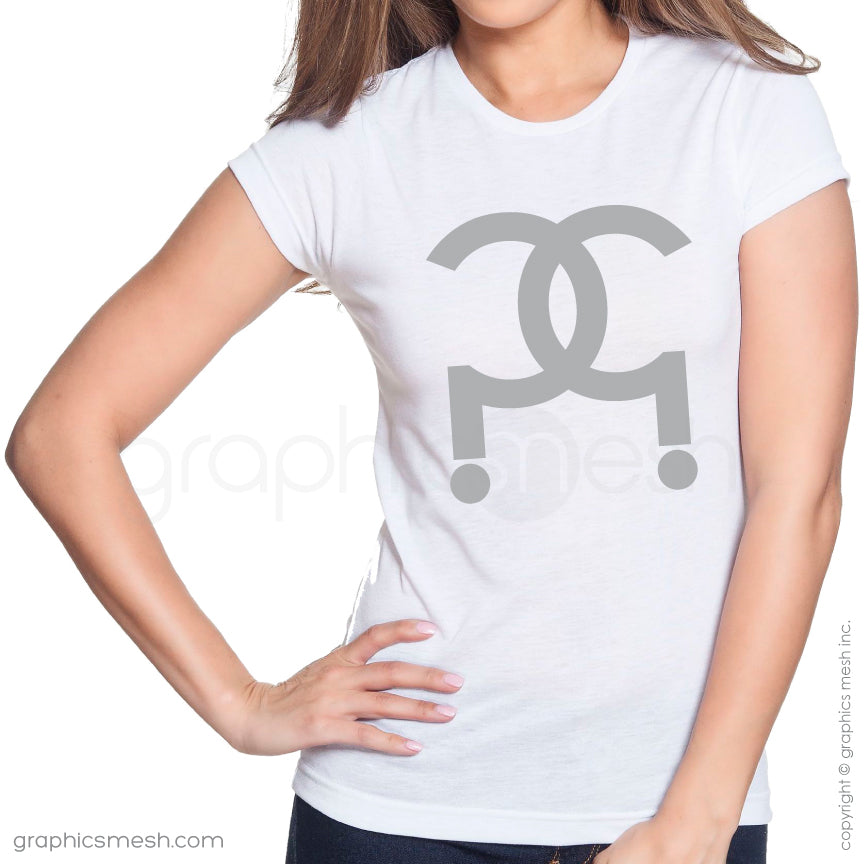 CC QUESTION MARK LOGO ?? - Shirt for her