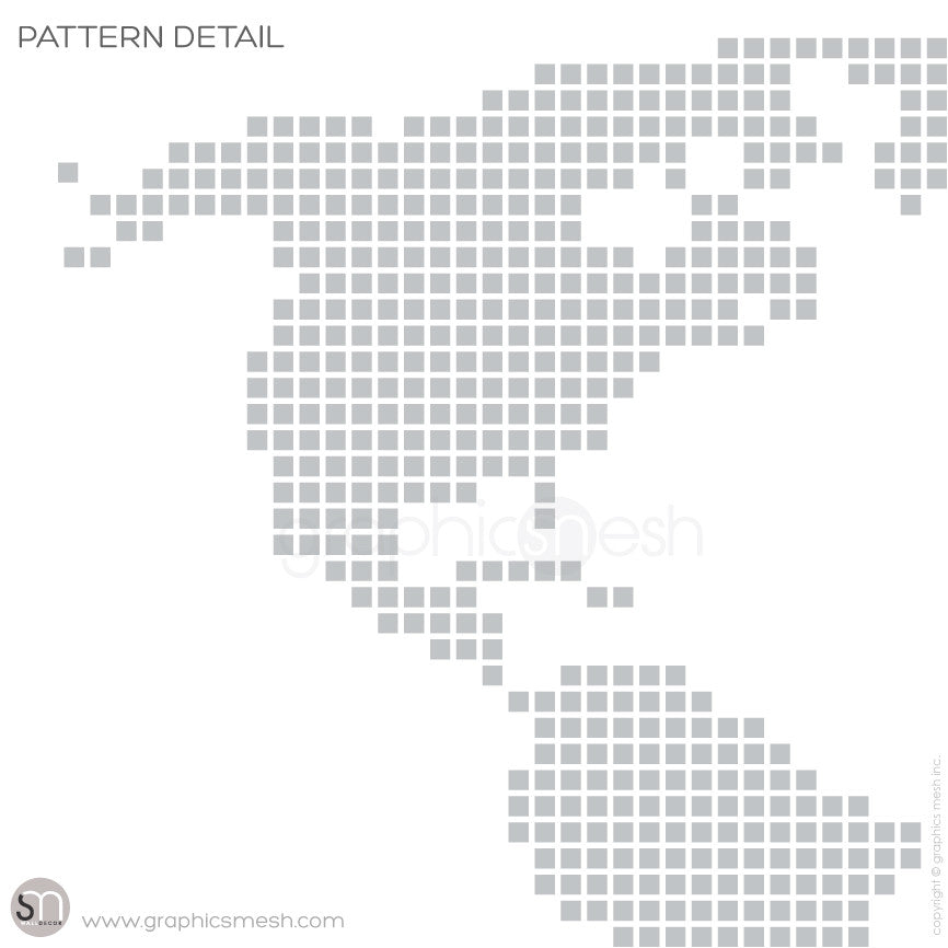 CHECKERED WORLD MAP - Wall decals pattern