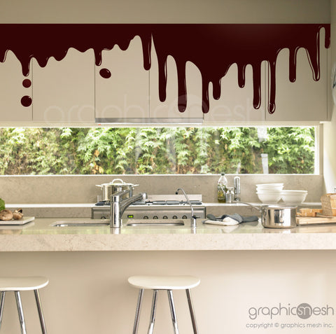 CHOCOLATE DRIP SHAPE - Wall Decals - brown surface graphics