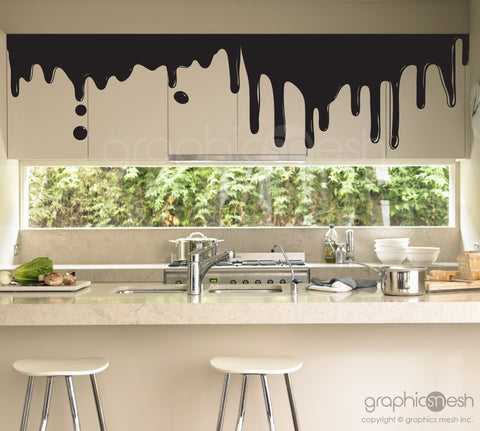 DRIPPING CHOCOLATE - Shape Wall Decals Black