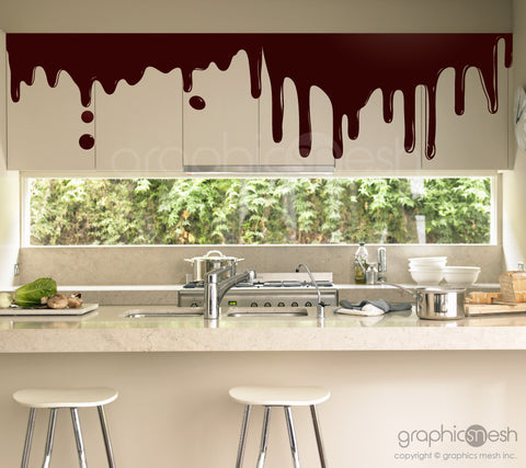 DRIPPING CHOCOLATE - Shape Wall Decals Brown