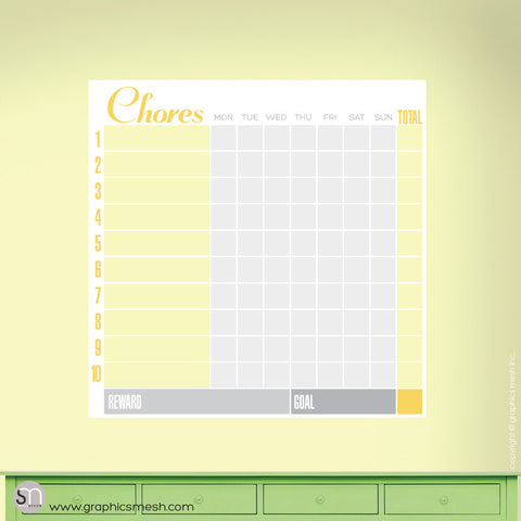 CHORE CHART DRY ERASE DECAL - FAMILY COLLECTION