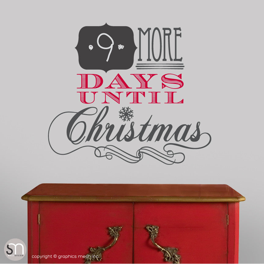 Days Till Christmas Chalkboard.Christmas Countdown More Days Until Christmas Chalkboard Wall Decals