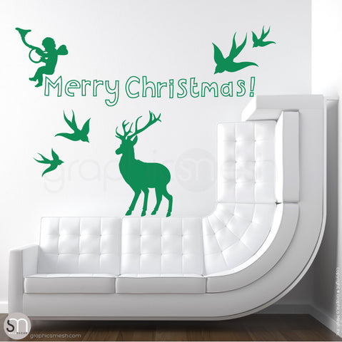 CHRISTMAS SET - Holiday Wall Decals green